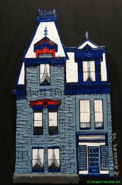 Blue Victorian Mansion Montreal