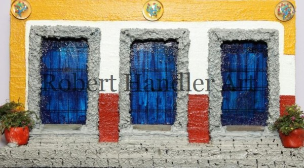 Triple Mexican Blue Doors